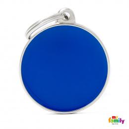 Známka My Family Basic kulatá velká modrá