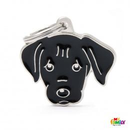 Známka My Family Friends Labrador černý