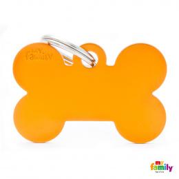 Známka My Family Basic kost velká oranžová