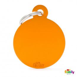 Známka My Family Basic kolečko velké oranžové