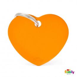 Známka My Family Basic srdce velká oranžová