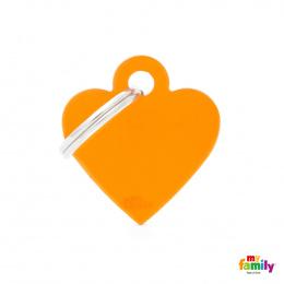 Známka My Family Basic srdce malé oranžové