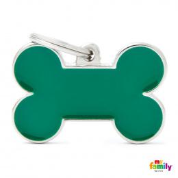 Známka My Family Basic Handmade kost velká zelená