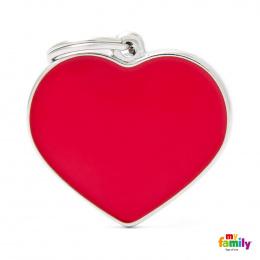 Známka My Family Basic Handmade srdce velké červené