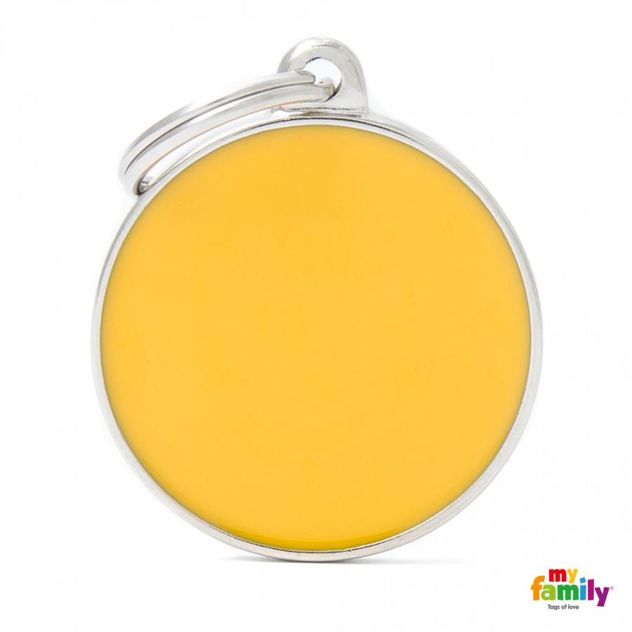 Známka My Family Basic Handmade kolečko velké žluté