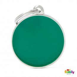 Známka My Family Basic Handmade kolečko velké zelené