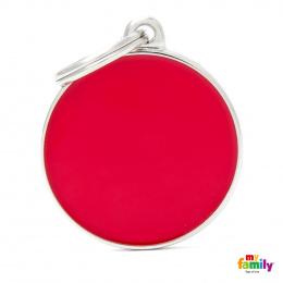 Známka My Family Basic Handmade kolečko velké červené