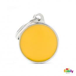 Známka My Family Basic Handmade kolečko malé žluté