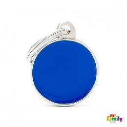 Známka My Family Basic Handmade kolečko malé modré