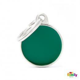 Známka My Family Basic Handmade kolečko malé zelené