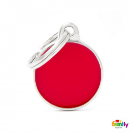 Známka My Family Basic Handmade kolečko malé červené