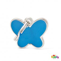 Známka My Family Charms Motýlek modrý