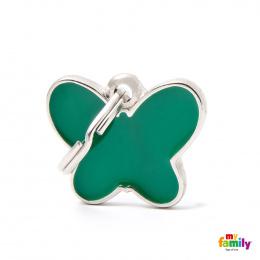 Známka My Family Charms Motýlek zelená