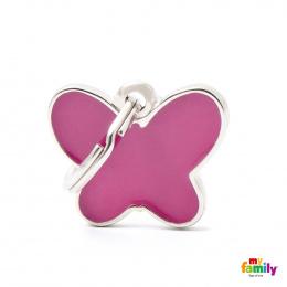 Známka My Family Charms Motýlek růžová