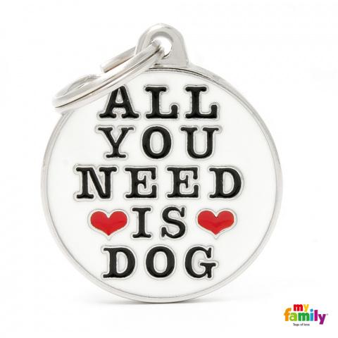 Známka My Family Charms All you need is dog