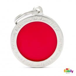 Známka My Family Classic logo kulatá velká červená