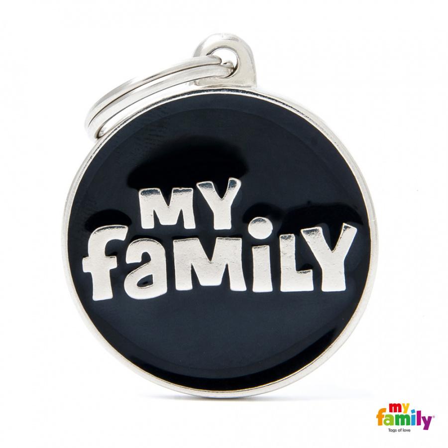 Známka My Family Classic logo MY FAMILY kulatá velká černá