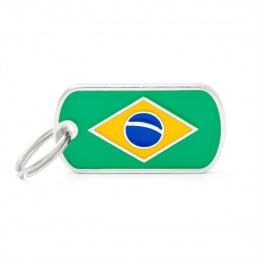 Známka My Family vlajka Brazílie