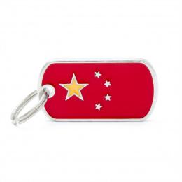 Známka My Family vlajka Čína