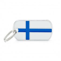 Známka My Family vlajka Finsko