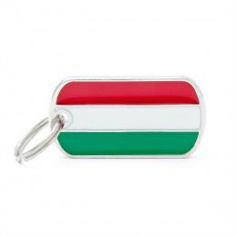 Známka My Family vlajka Maďarsko