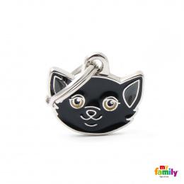 Známka My Family Friends Evropská krátkosrstá kočka černá