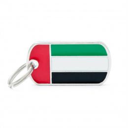 Známka My Family vlajka Spojené arabské emiráty