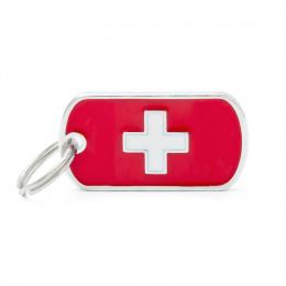 Známka My Family vlajka Švýcarsko