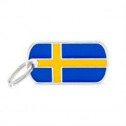 Známka My Family vlajka Švédsko