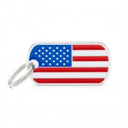 Známka My Family vlajka USA