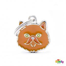 Známka My Family Friends Perská kočka červená