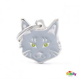 Známka My Family Friends Mainská mývalí kočka šedá