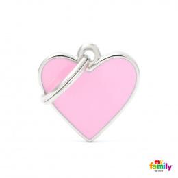 Známka My Family Basic Handmade srdce malé růžové