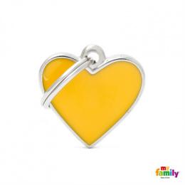 Známka My Family Basic Handmade srdce malé žluté
