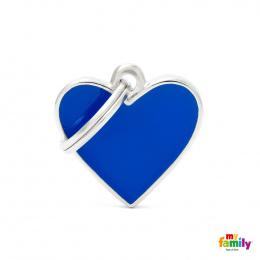 Známka My Family Basic Handmade srdce malé modré