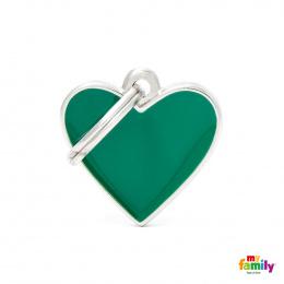 Známka My Family Basic Handmade srdce malé zelené