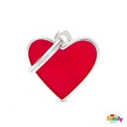 Známka My Family Basic Handmade srdce malé červené