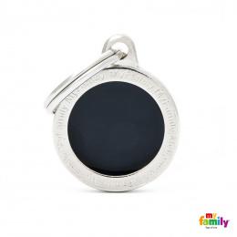 Známka My Family Classic logo kulatá malá černá