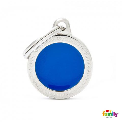 Známka My Family Classic logo kulatá malá modrá