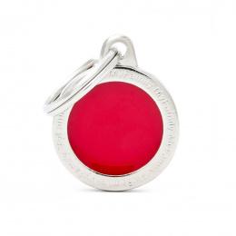 Známka My Family Classic logo kulatá malá červená