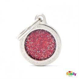 Známka My Family Shine logo kulatá malá červená