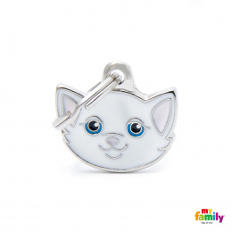 Známka My Family Friends Evropská krátkosrstá kočka bílá
