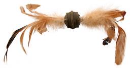 Hračka Magic Cat Catnip míček s pírky 3,5cm