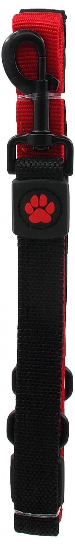 Vodítko Active Dog Bungee Neoprene L červené 2,5x120cm