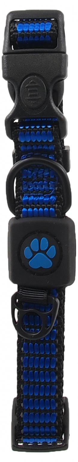 Obojek Active Dog Strong S modrý 1,5x27-37cm