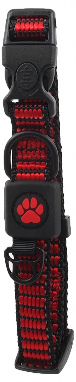 Obojek Active Dog Strong S červený 1,5x27-37cm