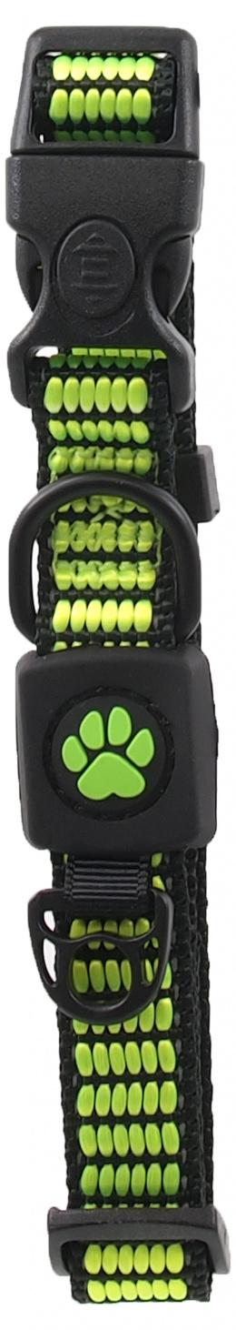 Obojek Active Dog Strong S limetka 1,5x27-37cm
