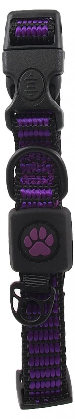 Obojek Active Dog Strong S fialový 1,5x27-37cm