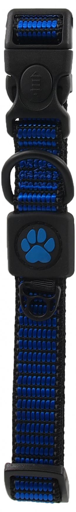 Obojek Active Dog Strong M modrý 2x34-49cm