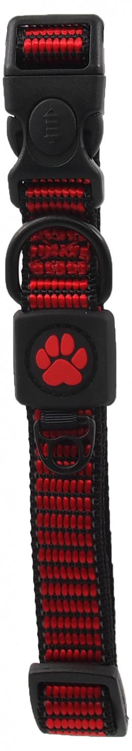 Obojek Active Dog Strong M červený 2x34-49cm